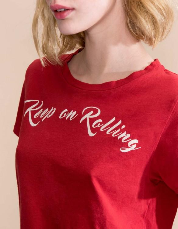 T-shirt Ulysse Print - LIPSTICK RED