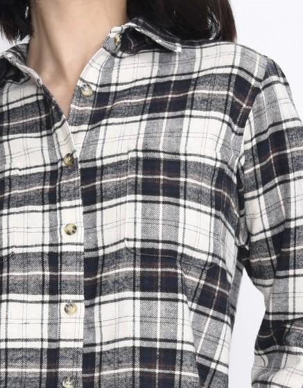 Check shirt Cassidy - ANTIC WHITE