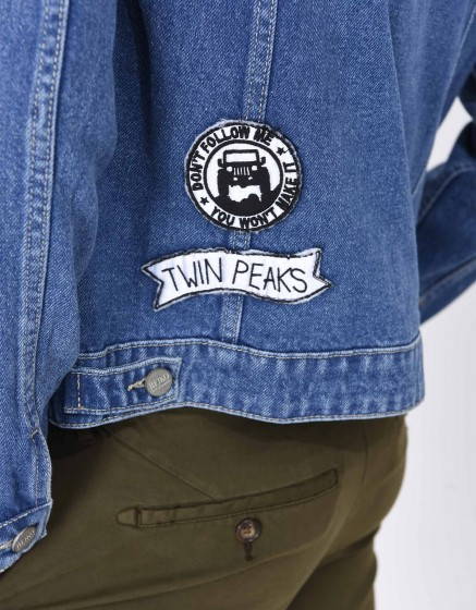 Jean jacket Vahia Patch - DENIM