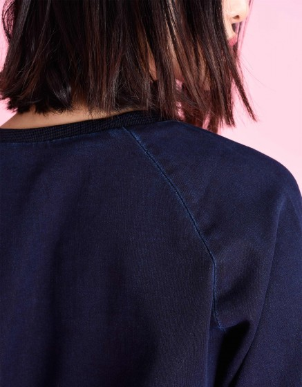 Pearly Fleece sweat - INDIGO
