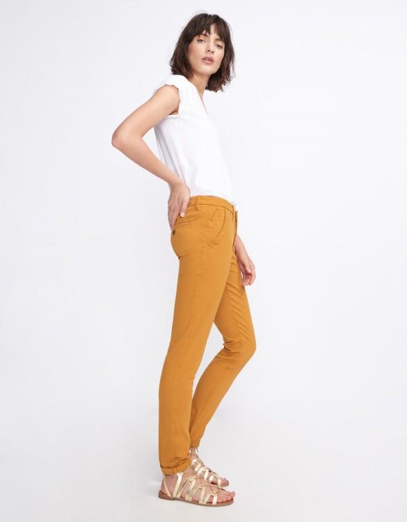 Pantalon chino Sandy Basic 2 - CINNAMON
