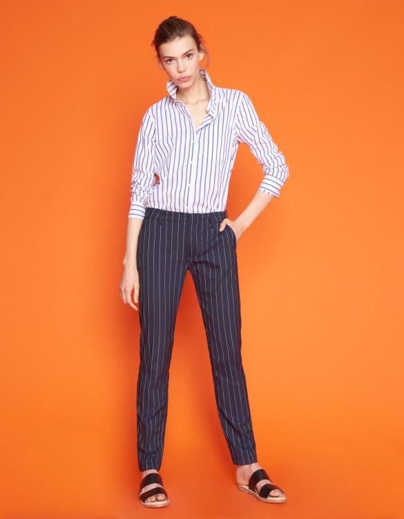 Pantalon cigarette Lizzy Fancy - STRIPES NAVY