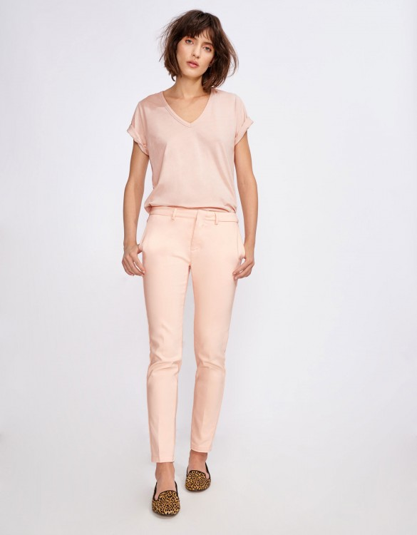 Cigarette Trousers Lizzy Color - CLOUD PINK