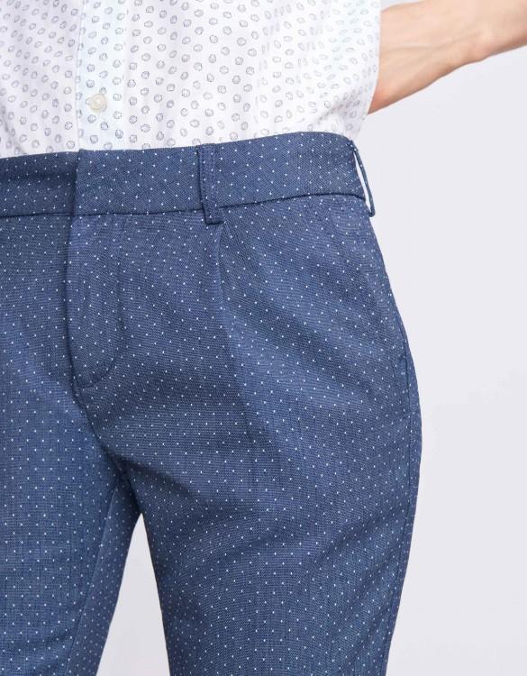 Pantalon cigarette Larson Fancy - DOTS WHITE
