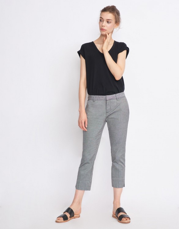 Cigarette Cropped Trousers Laura Fancy - CHESS