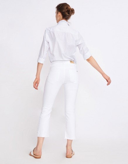 Straight cropped jean Lottie - DENIM WHITE