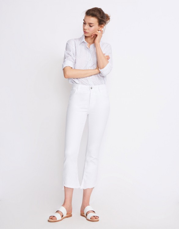 Jean straight cropped Lottie - DENIM WHITE