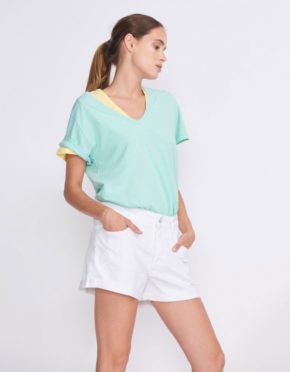 Boyfriend short Sarah - DENIM WHITE