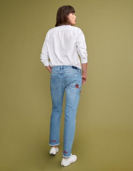 Slim cropped jean Preston - DENIM EMBROIDERED