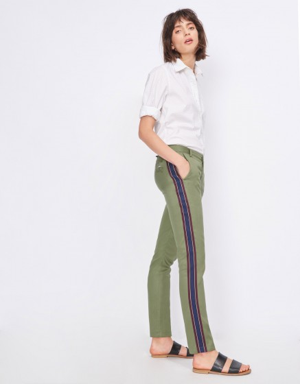 Cigarette Trousers Lizzy Herring - MILITARY GREEN