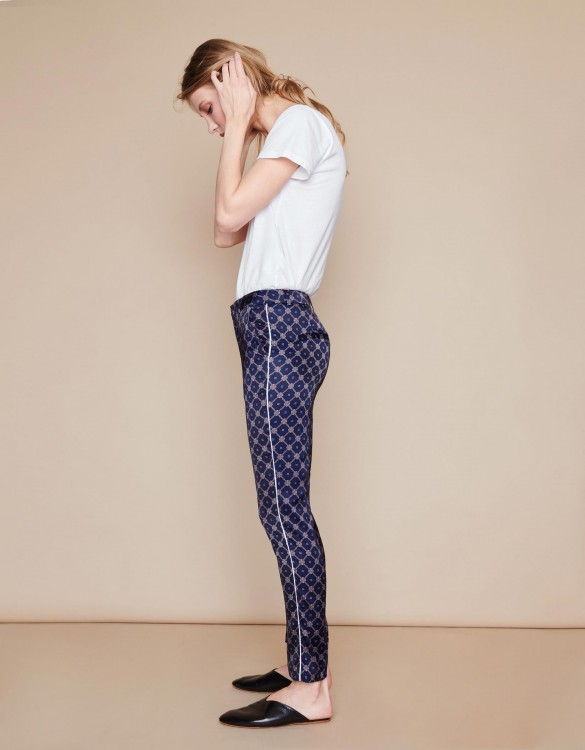 Pantalon Cigarette Lizzy Piping - NAVY GATE