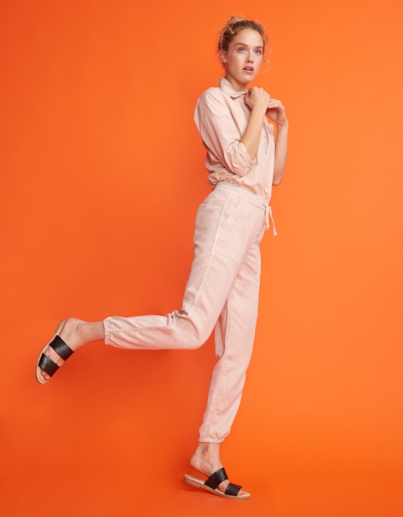 Street trousers Ryan - SMOKY PINK