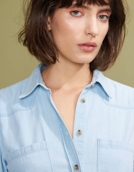 Robe en jean Carol - LIGHT BLUE