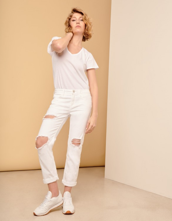 Boyfriend jean Nina - DENIM WHITE