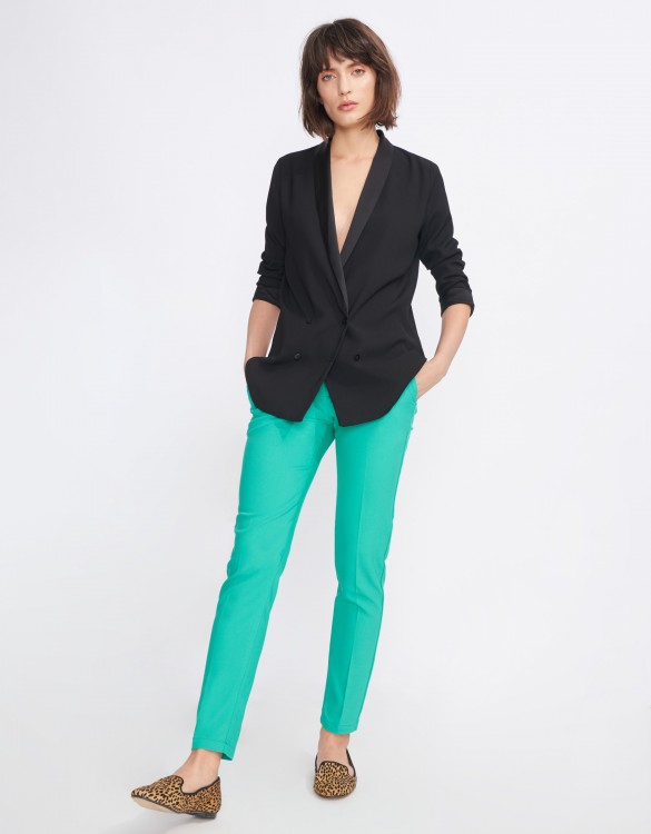 Cigarette Trousers Lizzy Color - POOL GREEN