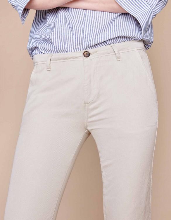 Pantalon chino Pam Linen - CREAM