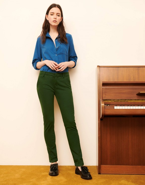 Pantalon chino Sandy 2 Basic - VERT FEUILLE