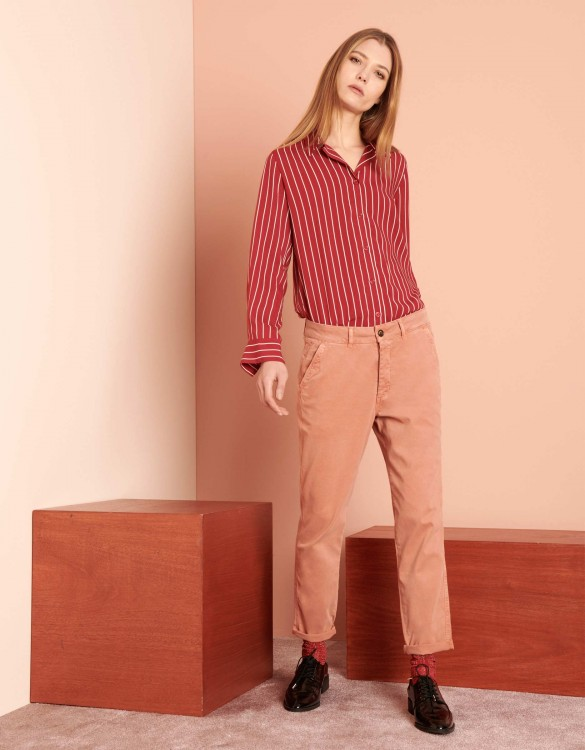 Chino tapered Trousers Scott - SALMON