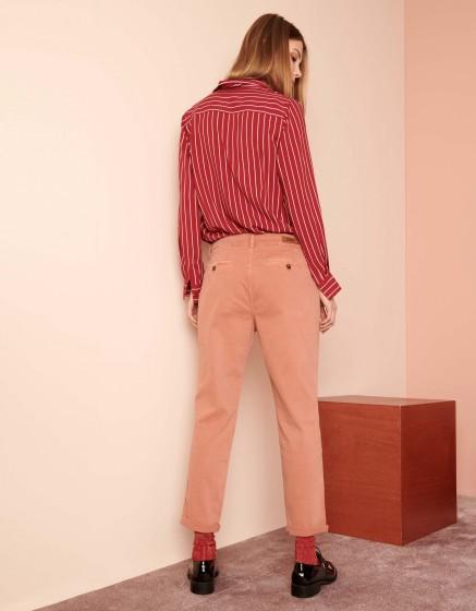 Pantalon chino tapered Scott - SALMON