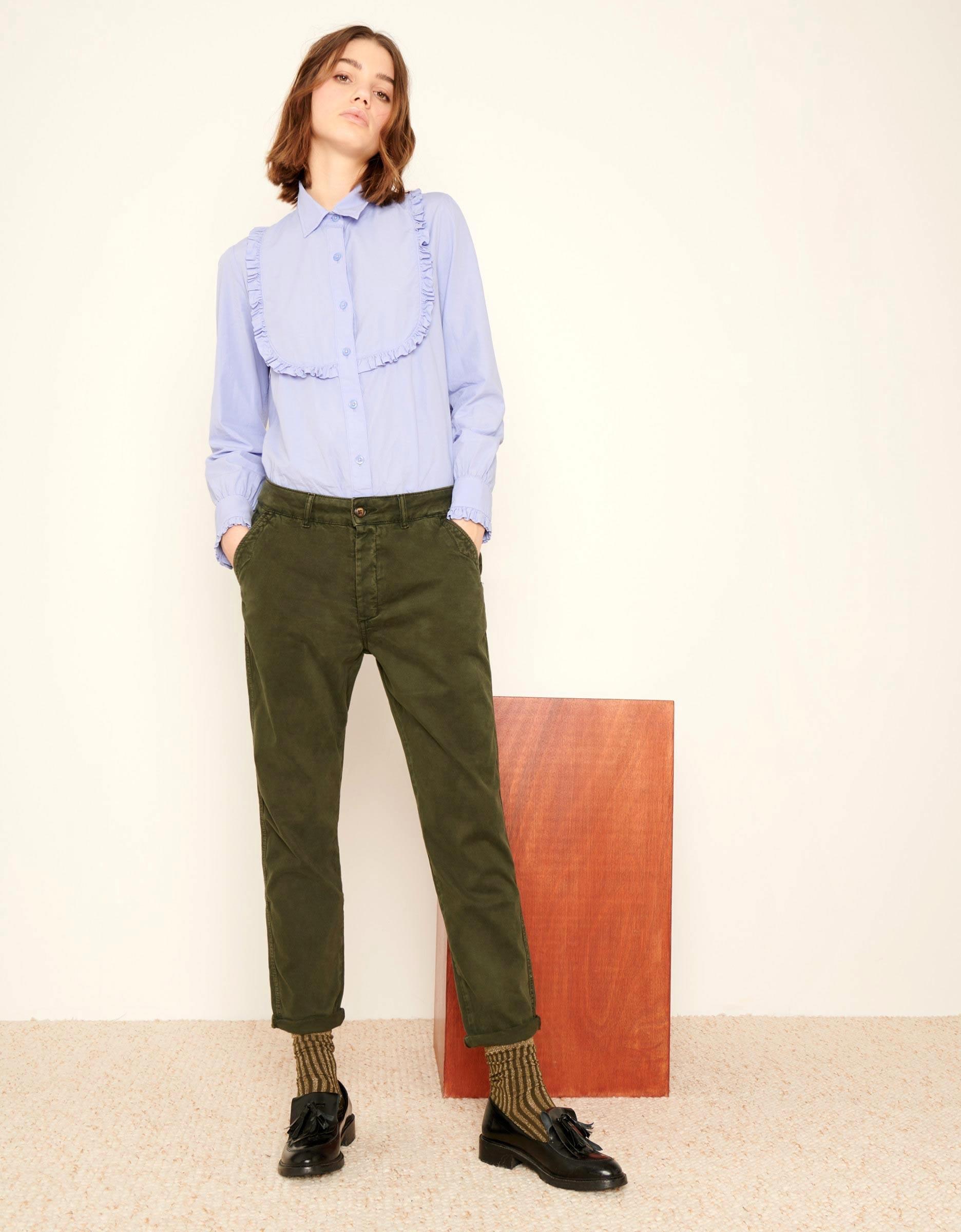 Chino Tapered Trousers Scott For Women Vert De Chrome Reiko