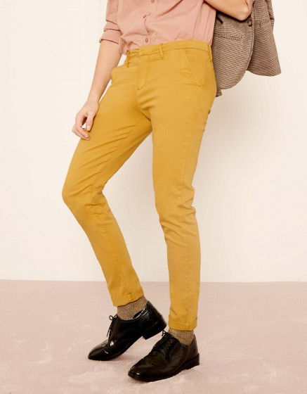 Pantalon chino Sandy 2 Basic - DARK HONEY