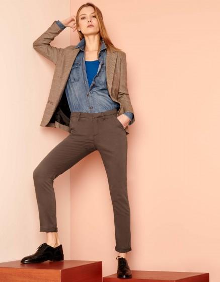 Pantalon chino Sandy 2 Basic - SEPIA