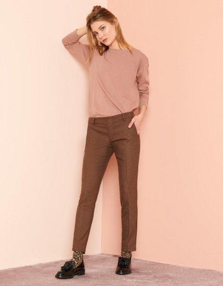Pantalon cigarette Lizzy Fancy - BROWN BERRY
