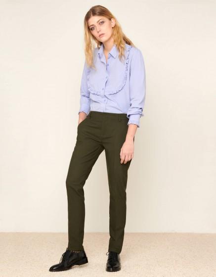 Cigarette Trousers Lizzy Fancy - GREEN BERRY