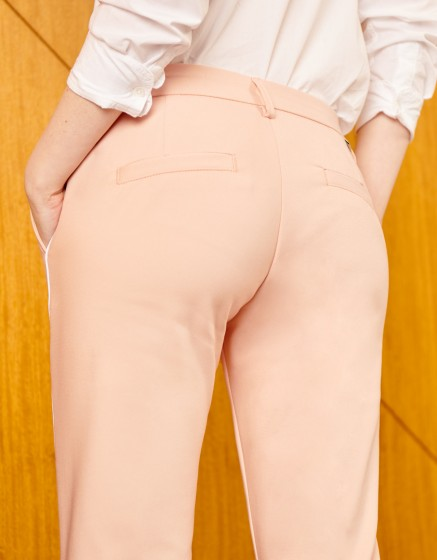 Pantalon Cigarette Lizzy Color - DUSTY PINK PIPING