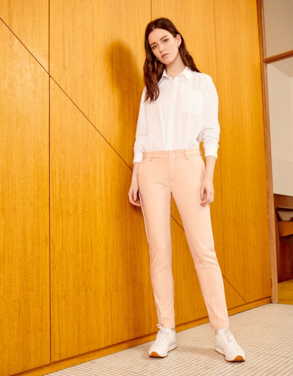Cigarette Trousers Lizzy Color - DUSTY PINK PIPING