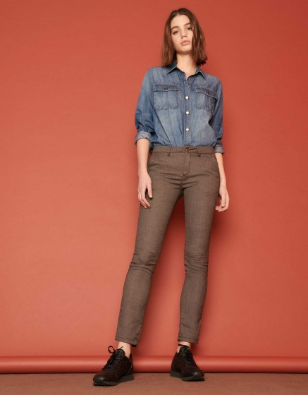 Pantalon chino Sandy Fancy - HERRING MESH