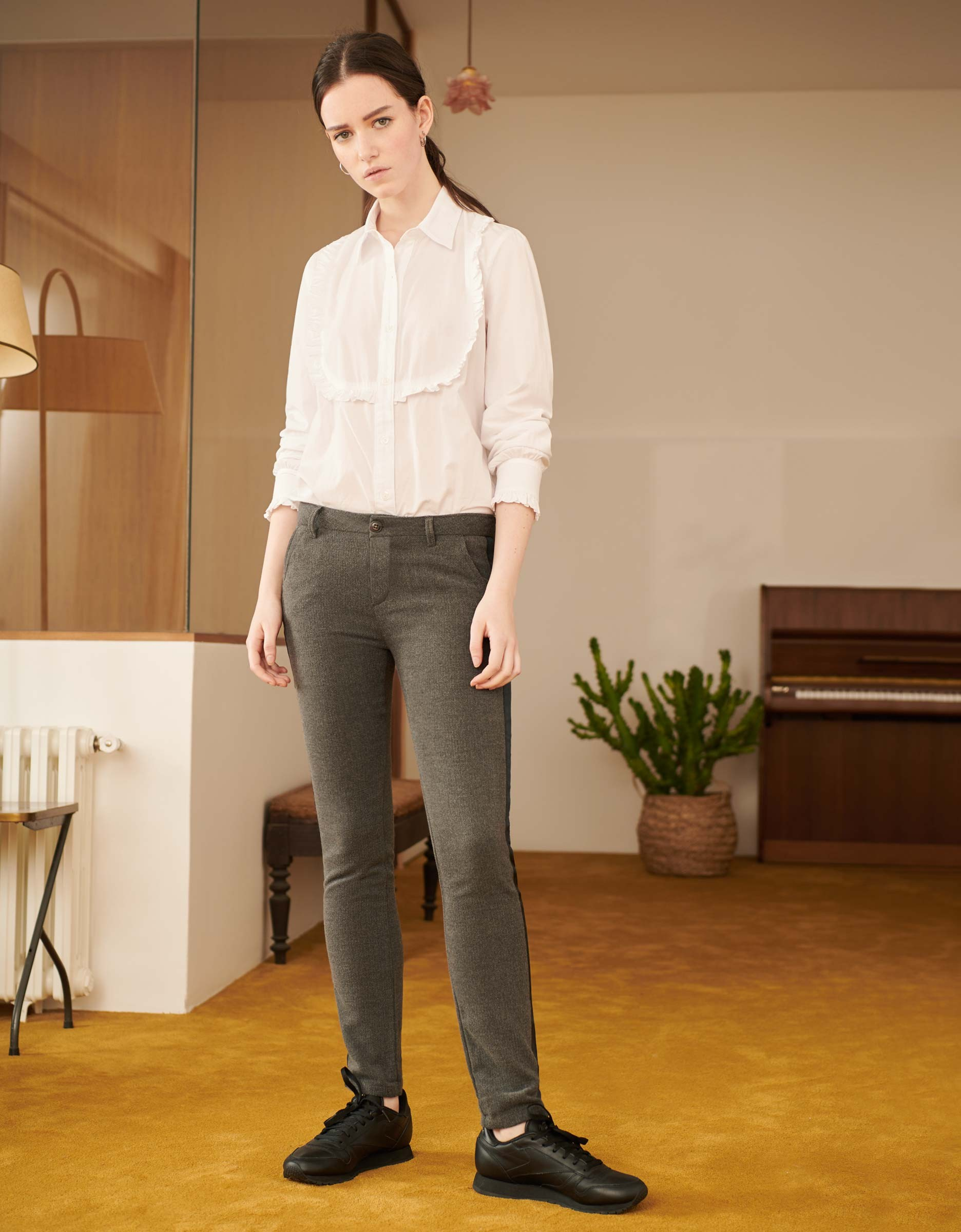 Pour Fancy Sandy Pantalon Herring Chino Grey Femme Rtvxq7 5e0d4de4471