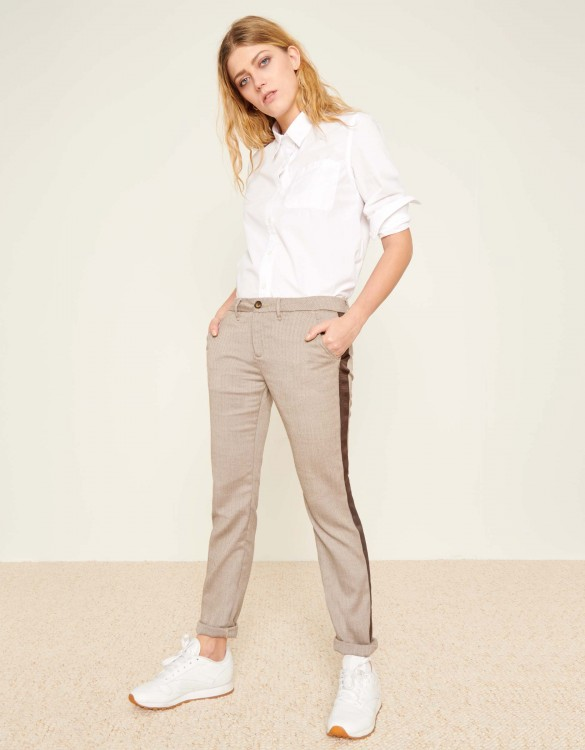 Pantalon chino Sandy Fancy - HERRING BROWN