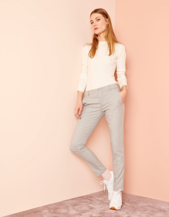 Cigarette Trousers Lizzy Fancy - POWDER