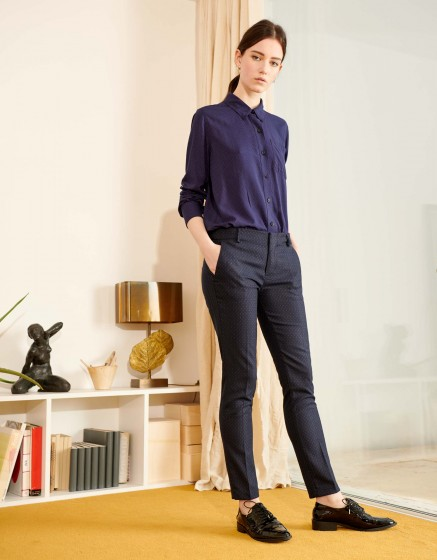 Pantalon cigarette Lizzy Fancy - NAVY TRACK