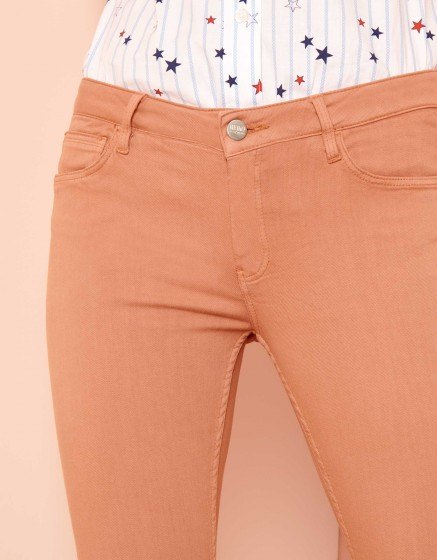 Skinny cropped trousers Lily Color - SALMON