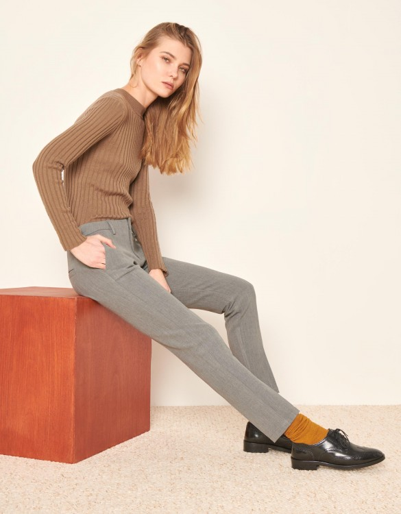 Pantalon cigarette Lizzy Fancy - MIDDLE GREY