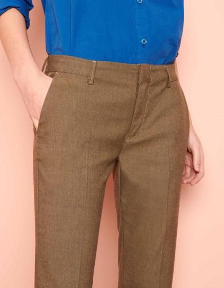 Cigarette Trousers Lizzy Fancy - TWILL GREGE