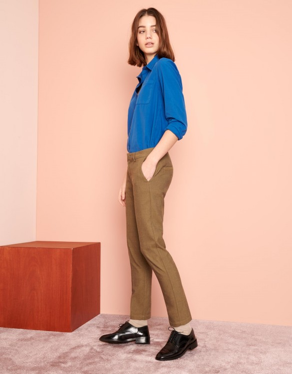 Cigarette Trousers Lizzy Fancy - TWILL GREGE
