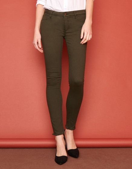 Skinny cropped trousers Lily Color - VERT DE CHROME