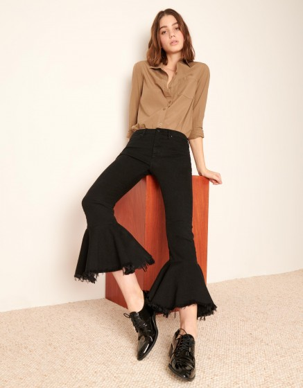 Jean straight cropped Lewis - DNM BLACK