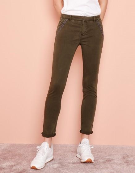 Pantalon chino Sandy Ribbon - DARK KAKI