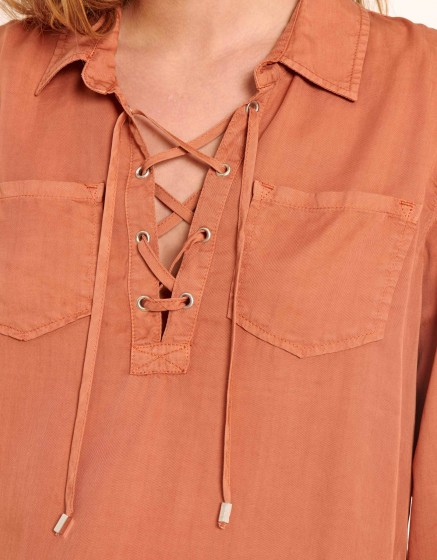 Chemise Caty Color - SALMON