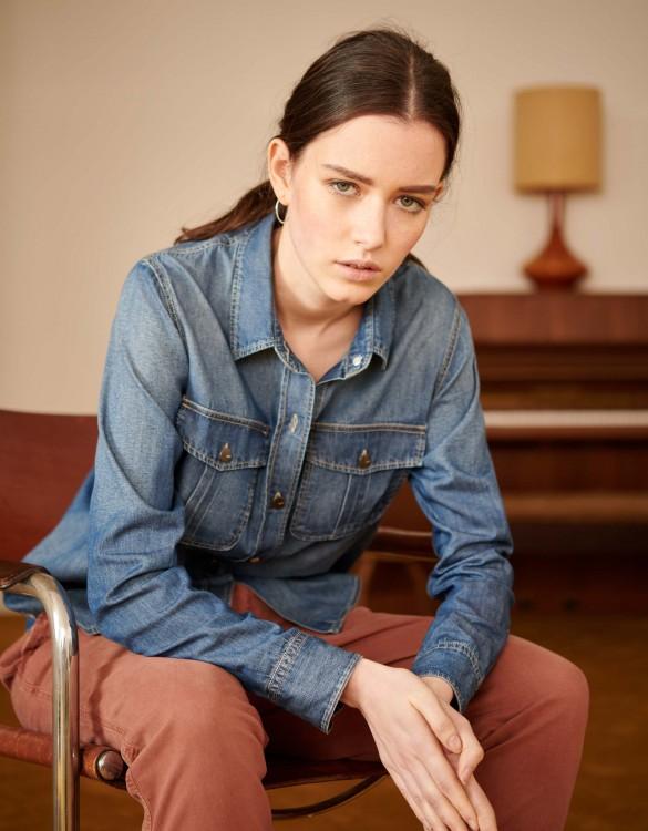 Denim shirt Camille - DNM MEDIUM BLUE