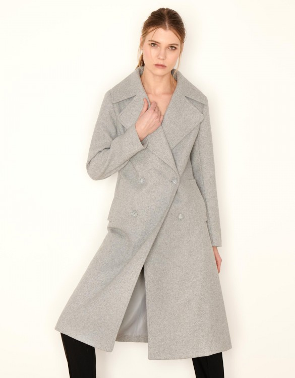 Coat Mael Color - GRIS CHINE FONCE