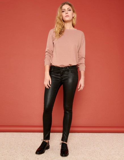 Pantalon skinny cropped Lily Enduction - BLACK
