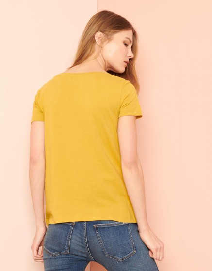 T-shirt Ted - DARK HONEY