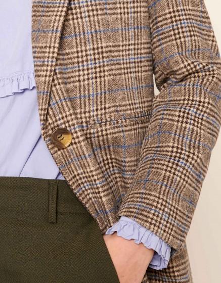 Coat Marco Fancy - BEIGE TARTAN