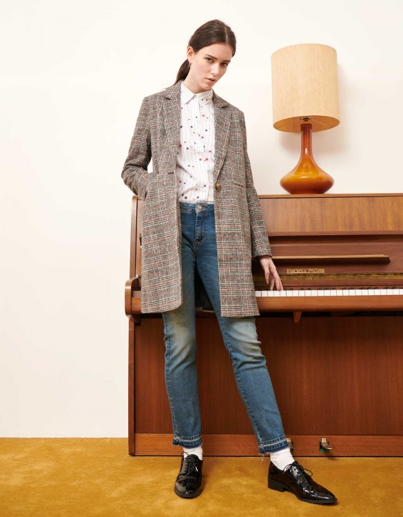 Coat Marco Fancy - GREY TARTAN
