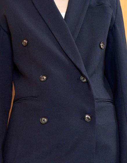 Veste blazer Basil Fancy - NAVY DOTS